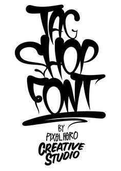 TagShop Font Graffiti Typeface