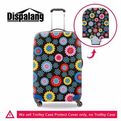 ef231a8021 Dispalang Floral Prints Suitcase Protective Covers For Women Fashion  Waterproof Travel Luggage Dust Cover For 18