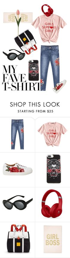 """dressteeup"" by lolla-cher ❤ liked on Polyvore featuring Kenzo, Beats by Dr. Dre, Henri Bendel and MyFaveTshirt"
