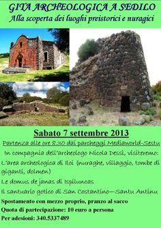 GITA ARCHEOLOGICA A SEDILO – SABATO 7 SETTEMBRE 2013