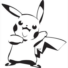 Image uploaded by Dominique. Find images and videos about black and white, pokemon and pikachu on We Heart It - the app to get lost in what you love. Pikachu Pikachu, Cool Stencils, Stencil Art, Paint Stencils, Pokemon Stencils, Haida Kunst, Pokemon Pumpkin, Pumpkin Photos, Pumpkin Carving Templates