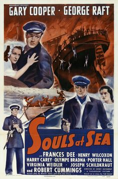 English: Poster - Souls At Sea - Directed By Henry Hathaway (1937), With Gary Cooper, George Raft And Frances Dee