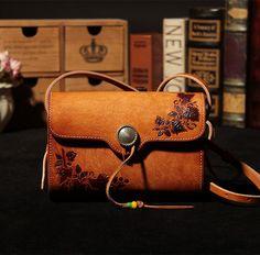 Vegetable Tanned Handmade Leather Satchel