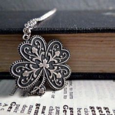 Four leaf clover this as a filigree tattoo