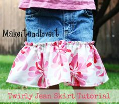 Twirly Jean Skirt Tutorial by Make It and Love It