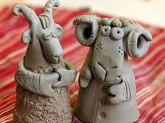 Лепим барашка Ивановича и козочку Потаповну из природной глины - Ярмарка Мастеров - ручная работа, handmade