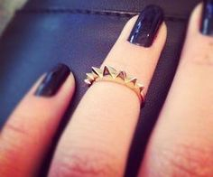 Accessories || gold spiked midi ring