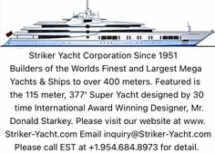 Big Yachts, Super Yachts, Luxury Yachts, Yacht Builders, Private Yacht, Yacht Design, Sport Fishing, Monte Carlo, Rolls Royce
