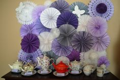 Paper Fan Backdrop - Tea Party Bridal Shower