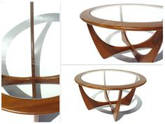 Circular G-plan Glass Topped Coffee Table Danish Design