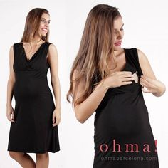 Vestido de lactancia. #ropaparaembarazadas #ropapremama #embarazo #embarazada #modaparaembarazadas #modapremama #vestidoembarazada #vestidolactancia #ohmabarcelona