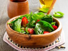KALE and SPINACH SALAD This Super Salad Recipe is healthy and a great addition to any meal! Add your own choice of dressing to this versatile salad!