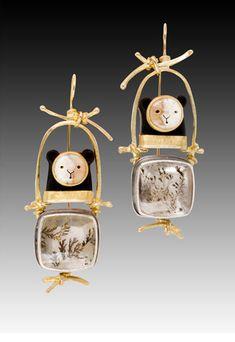 Bear Earrings--Carolyn Morris Bach