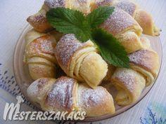 Vaníliapudingos croissant recept