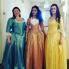 Angelica, Eliza, and Peggy Schuyler Cosplay Sister Costumes, Group Costumes, Cosplay Costumes, Cosplay Ideas, Costume Ideas, Hamilton Cosplay, Hamilton Costume, Hamilton Halloween Costume, Hamilton Schuyler Sisters