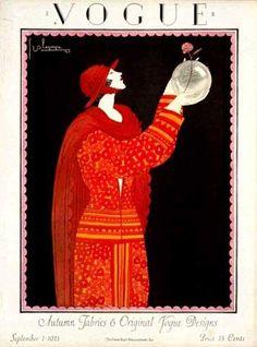 ⍌ Vintage Vogue ⍌ art and illustration for vogue magazine covers - September 1923