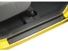 MOPAR® Door Sill Entry Guards in Black Plastic with Jeep® Logo For 07-14 Jeep® Wrangler JK