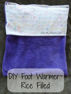 DIY rice foot warmer