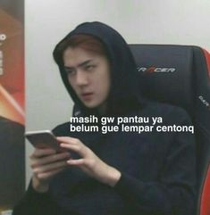 Centong sehun for life! Memes Funny Faces, Funny Kpop Memes, Exo Memes, Cute Memes, Quotes Lucu, Jokes Quotes, Live Meme, Funny Tweets Twitter, K Meme