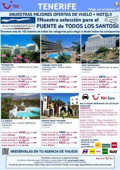 ¡Nuestras mejores ofertas! vuelo + hotel Tenerife Puente Todos los Santos. Precio final desde 445€ - http://zocotours.com/nuestras-mejores-ofertas-vuelo-hotel-tenerife-puente-todos-los-santos-precio-final-desde-445e/