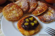 Kaszomania - pomysły na dania z kaszy jaglanej: Placki z kaszy jaglanej, twarogu i brzoskwini Biscotti, Nom Nom, Sweet Tooth, French Toast, Veggies, Gluten Free, Healthy Recipes, Healthy Food, Yummy Food