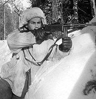 """Submachinegunner from the Swedish Volounteer force at """"Svirfronten"""" 1943"""