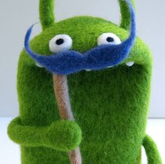 Cutest needle-felted monsters ever, Made by Moxie.