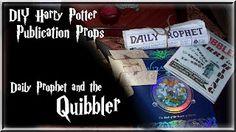 Grace's Scrap Attic: Harry Potter Publication Props - Quibbler and The Daily Prophet Post #6