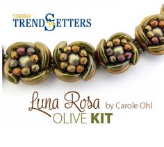 Luna Rosa Bracelet: Olive Kit with Tutorial by Carole by openseed