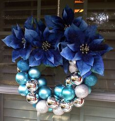 Blue wreath.
