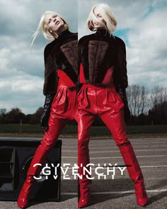 Givenchy. Cut-off slides add a sense of surrealism to this campaign.