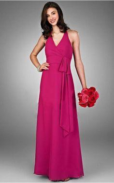 Sleeveless Zipper Halter Floor-length Chiffon Formal Dresses d130604234