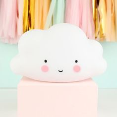Set a calming mood with our sweet miniature cloud night light from The Little Lovely Company. With Free Worldwide Delivery and No Minimum Spend. Cloud Night Light, Cloud Lights, Cloud Lamp, A Little Lovely Company, Safari Decorations, Baby Bath Time, Cute Stationary, Kids Lighting, Baby Bedroom