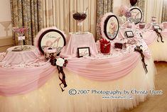 Candy Station for Sweet 16 B. Party by SBD Events Planning, love the lights under the tulle skirt Quinceanera Decorations, Quinceanera Party, Custom Candy, Customized Candy, Sweet 16 Birthday, Birthday Parties, Birthday Ideas, Tulle Table, Tutu Tablecloth