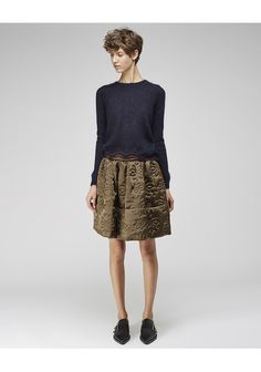 flower quilted skirt
