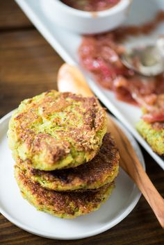 Recipe: Zucchini-Chickpea Fritters with Red Onion Jam — Mother's Day Brunch Recipes from Heather Christo (Kitchn Best Zucchini Recipes, Bacon Zucchini, Chickpea Recipes, Veggie Recipes, Recipe Zucchini, Cooking Recipes, Easy Recipes, Zucchini Tomato, Dinner Recipes