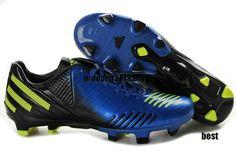 outlet store e5cd8 1b736 Adidas Predator LZ TRX FG Prime Blue Black Yellow Beckham Soccer Shoes   65.99