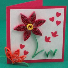 craft card flower - Buscar con Google