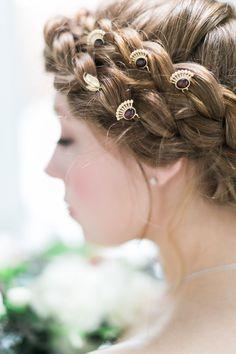 Garnet Bridal Hair Pins