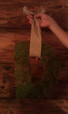 Beautiful moss covered solid wood monogram letter by 3KidsInACabin, $19.99