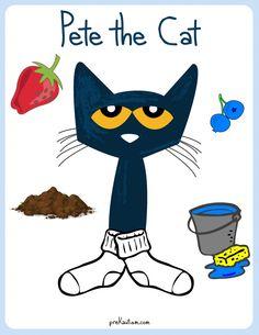FREE! Pete the Cat Color Activity