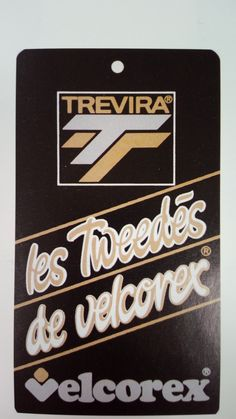 Etiquette Velcorex - Collection Trevira - Les Tweedés de Velcorex