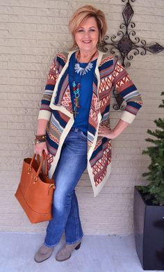 50 Is Not Old | Life In The Fast Lane | Southwestern | Jeans | Fashion over 40 for the everyday woman