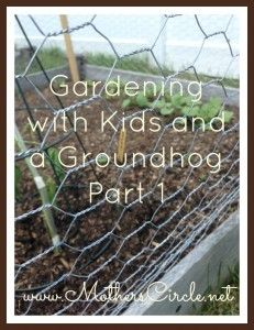 Gardening With Kids and a Groundhog Part 1
