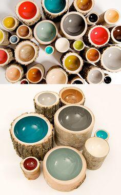 log bowls from loyal loot via fourish design