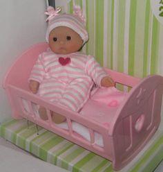 "Miniature Itsy Bitsy Baby Doll Crib Bed 4 Reborn/Play Mini Nursery 5"" Berenguer in Dolls & Bears, Dolls, By Brand, Company, Character, Berenguer, Berjusa, Dolls | eBay"