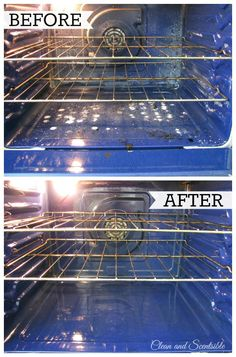 Clean your oven in three minutes with no chemical cleaners and no scrubbing!