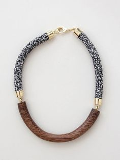 orly genger | elinore necklace in chestnut and heathered rope