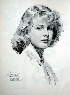 """Countess -  Art by Andrew Loomis - Board """"Art - Andrew Loomis"""""""