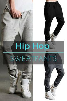 Hip Hop Dance Sweatpants in Black, Dark Grey & Light Grey